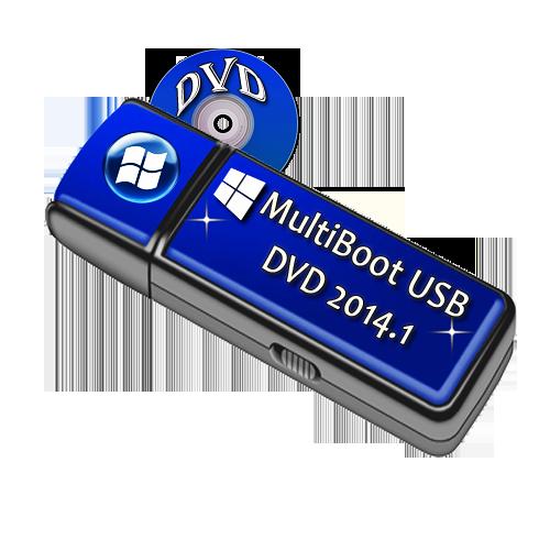 MultiBoot USB DVD 2014.1 x86/x64 by vlazok (2013/RUS/ENG)